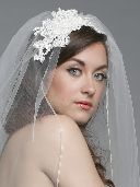 Designer bridal veils, headpieces and jewels by Cheryl King Couture